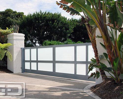 Modern Garage Door U0026 Custom Architectural Driveway Gate Project In Newport  Beach