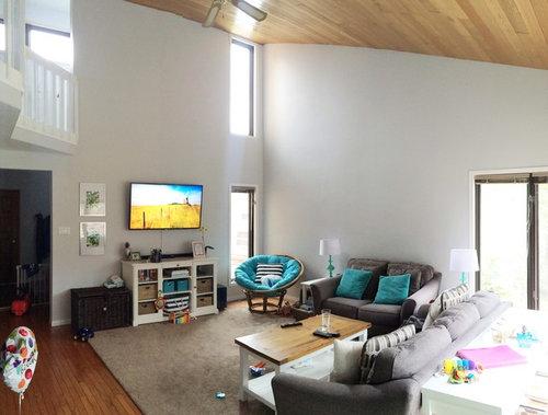 Odd Shaped Living Room Sloped Ceiling