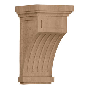 Fluted Mission Corbel, Cherry, 5 1/2