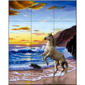 Tile Mural, Freedom - JW, 45.6x60.8 cm