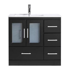 "Zola 36"" Single Bathroom Vanity Cabinet Set, Espresso"