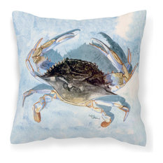 Blue Crab Fabric Decorative Pillow