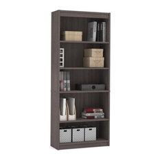 Bestar Standard Bookcase, Bark Gray