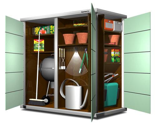gartenschrank garten q teras. Black Bedroom Furniture Sets. Home Design Ideas