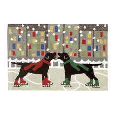 Liora Manne Frontporch Holiday Ice Dogs Rug, 2'6'x4'