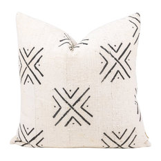 "Bayo African Mud Cloth Pillow, 24""x24"", Zipper, With Insert"