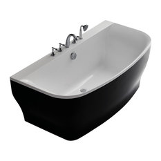 Verona Acrylic Bathtub, Black