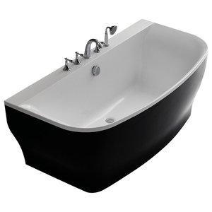 Verona Acrylic Bathtub, Black