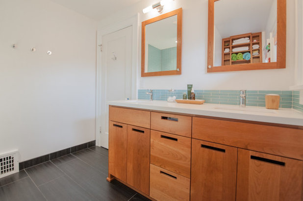 Amazing Transitional Bathroom by Encircle Design and Build