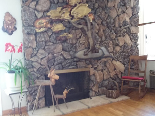Here You Go Guys I Ve Been Looking At This Lava Rock Wall Fireplace Forever Wondering What To Do M Open Anything From Paint Demo
