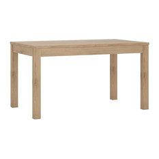 Extending Dining Table, Oak, 85 cm