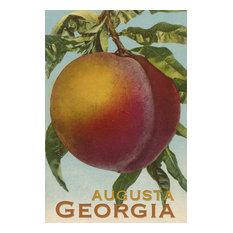 """Augusta, Georgia, Vintage Lithograph"" Print, 16""x24"""