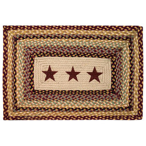 "Earth Rugs Burgundy Stars Oblong Patch, 20""x30"""