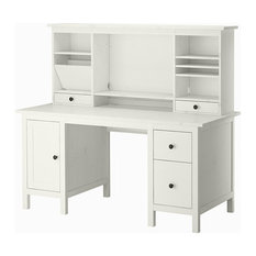 - HEMNES Desk with add-on unit - Desks And Hutches