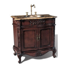 legion furniture 36 inch wide bathroom vanity in cherry brown finish bathroom vanities