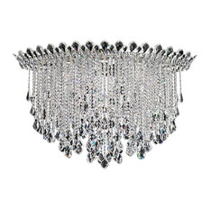 Trilliane Strands 8-Light in Stainless Steel, Clear Heritage Crystal