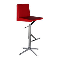 Ethan Swivel Hydraulic Barstool Red