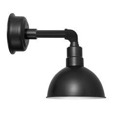 "Blackspot LED Sconce Light, Matte Black, Cosmopolitan Arm, 12"""