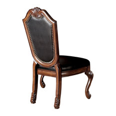 Chateau De Ville Side Chairs, Set of 2, Black and Cherry