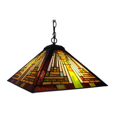 50 most popular pendant lights with a stained glass shade for 2018 chloe lighting inc chloe lighting 2 light mission hanging pendant fixture 16 aloadofball Gallery