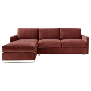 Felix Corner Sofa Bed, Terracotta, Left Hand Facing, Euro King