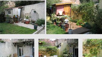 Création rénovation d'une cour intérieur en centre ville Nîmois