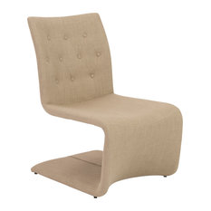 Euro Style Ville Lounge Chair Tan Fabric Set Of 2 Indoor Chaise