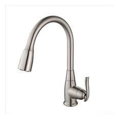 Kraus Premier Pull-Down 1-Handle Kitchen Faucet, 2-Function, Satin Nickel