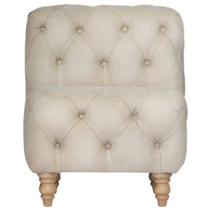 Miss Chester Bench, Small, Cream Leather