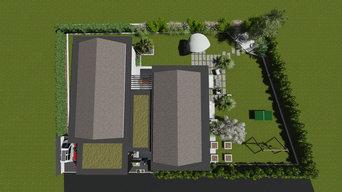 Jardin moderne et cosy