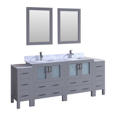 "84"" Bosconi Gray Double Vanity"