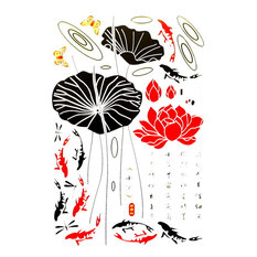 Lotus Just Buds - Wall Decals Stickers Appliques Home Dcor