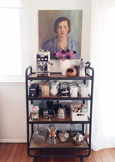 8 savvy ideas for kitchen carts for Coffee cart for home