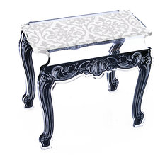 Side Table Small, Baroque, White
