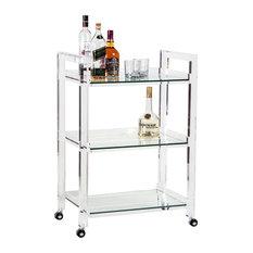 Ava Bar Cart, Clear