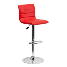 Delacora FF-CH-92023 Contemporary Adjustable Height Bar and - Red