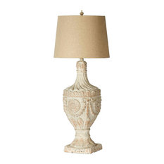 "Finial Table Lamp 10x10x31"", Magnesia"