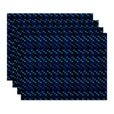 Mad for Plaid Geometric Print Placemat, Set of 4, Blue