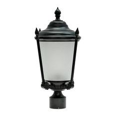 "60013 1-Light Medium Outdoor Post Light Fixture Black, 20 1/2"" High"