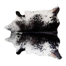 Pergamino Black Salt And Pepper Cowhide Rug, Extra Extra Large
