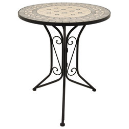Mediterranean Outdoor Pub And Bistro Tables by Three Hands Corp