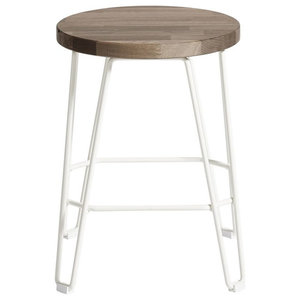 Move Bar Stool, White and Dark Brown, Small