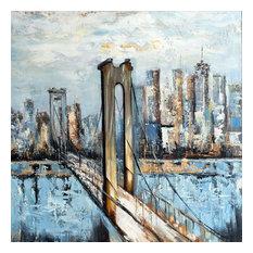 Hand Painted Brooklyn Bridge Wall Decor Artwork