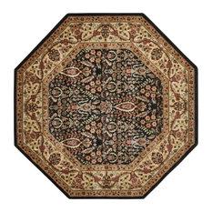 Nourison Persian Arts Black Area Rug Octagon Rugs