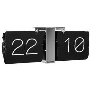 Karlsson Flip Clock Minimal, Chrome