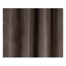 """Milan Bronze, Luxurious Velvet, Grommet Drapery Panel, 50"""" W X 95"""" Length"""