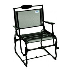 Shelter Logic Large Compact Traveler Chair with Hard Arms - Black