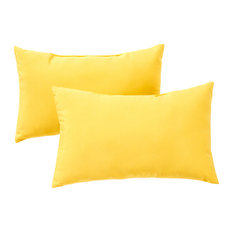 Rectangle Outdoor Accent Pillows, Set of 2, Sunbeam Yellow