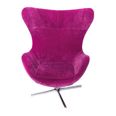 Superb La Viola Decor   Muna Egg Shape Contemporary Armchair, Pink   Armchairs And  Accent Chairs