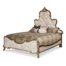 AICO Platine de Royale Queen Panel Bed, Antique Platinum